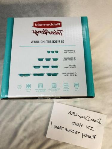 Rubbermaid Alongs Storage Teal Meal - NEW