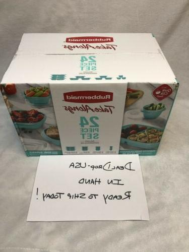 Rubbermaid Alongs Storage Teal - - NEW