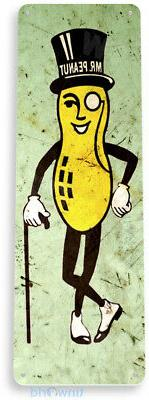 TIN SIGN Mr. Peanut Peanuts Kitchen Rustic Metal Decor B638
