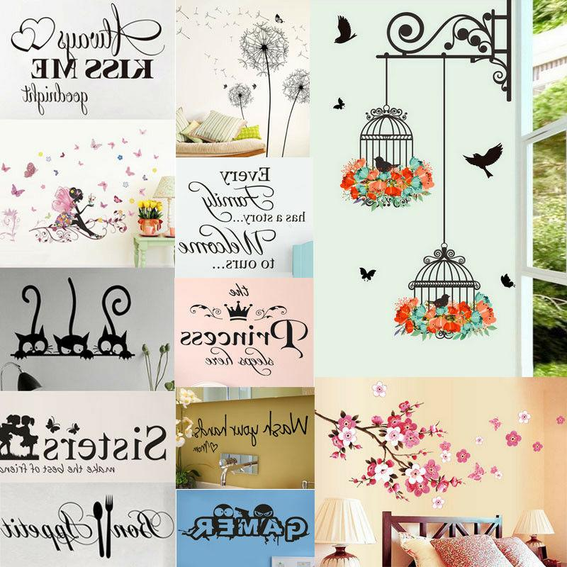 fresh flower animal wall sticker decal removable