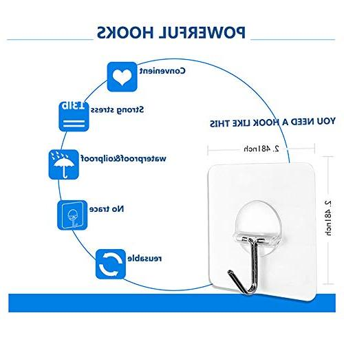 JINSHUNFA Wall Transparent and Oilproof,Bathroom Kitchen Duty Adhesive Pack