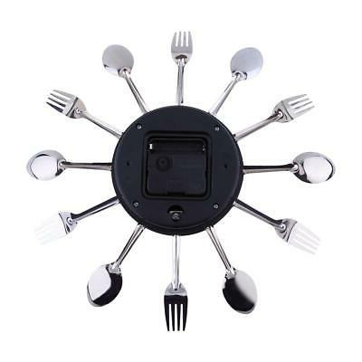 Wall Mounted Clock Tool Decoration Spoon Fork Modern