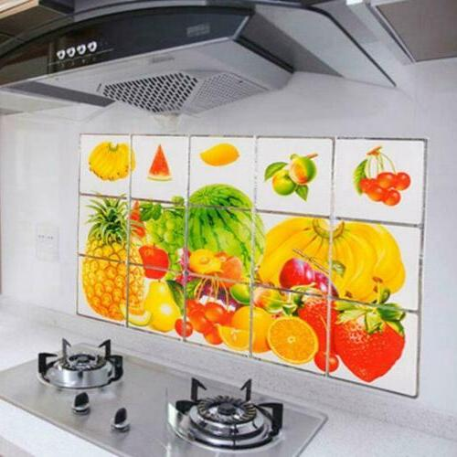 Wall Paper Kitchen Decor Anti Self Mosaic Waterproof