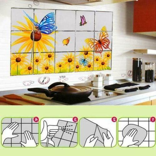 Wall Kitchen Anti Oil Mosaic Waterproof Sticker Mural