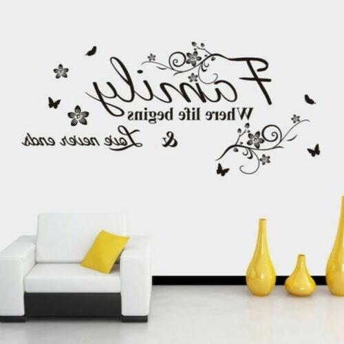 Wall Stickers FAMILY Quote Home Room Decor