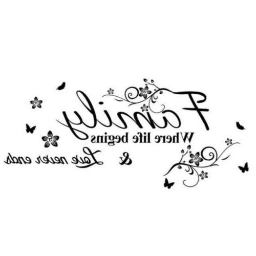 Wall Stickers Quote Home Decor