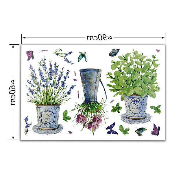 Wall Potted Flower Kitchen Glass