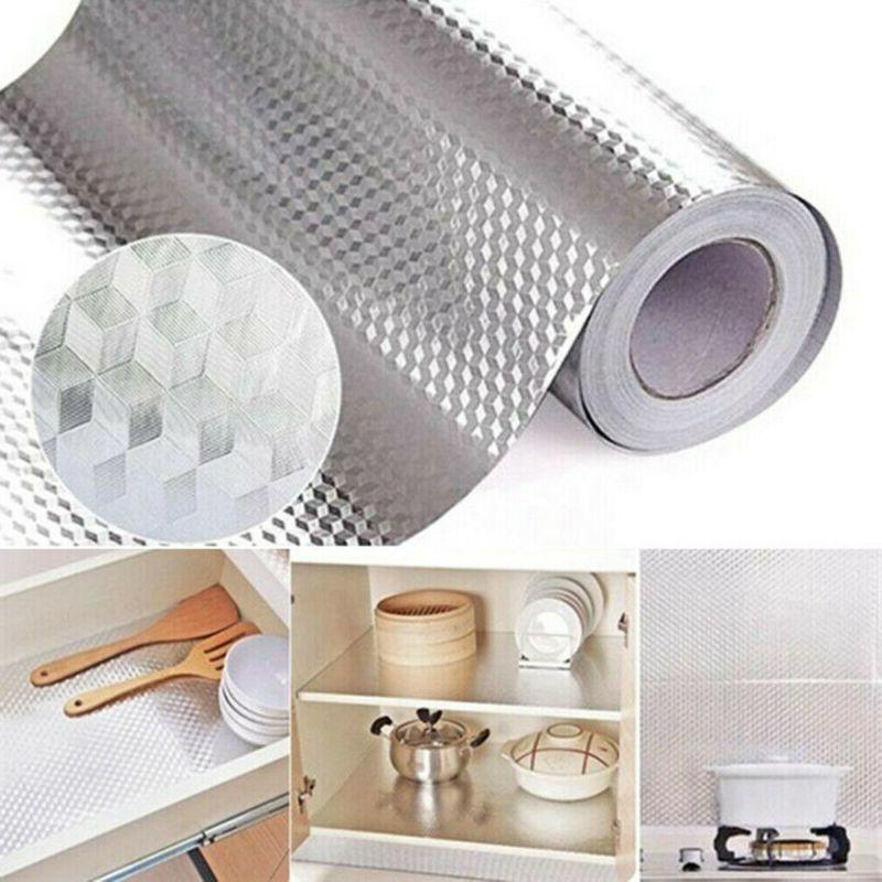 Waterproof Oil Proof Foil Self Adhesive Sticker DIY Kitchen