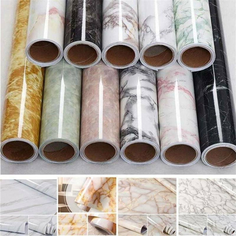 Waterproof Worktop Kitchen Stone Marble Contact Paper Sticke