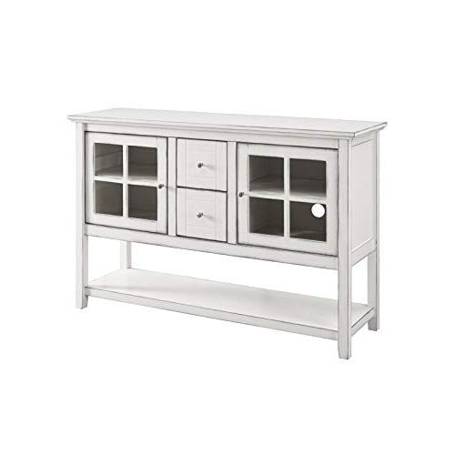 wood console table buffet tv