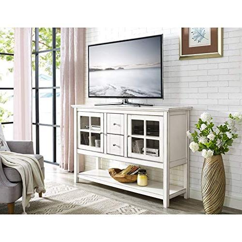 WE Furniture Console Table TV Stand - - AZ52C4CTAWH