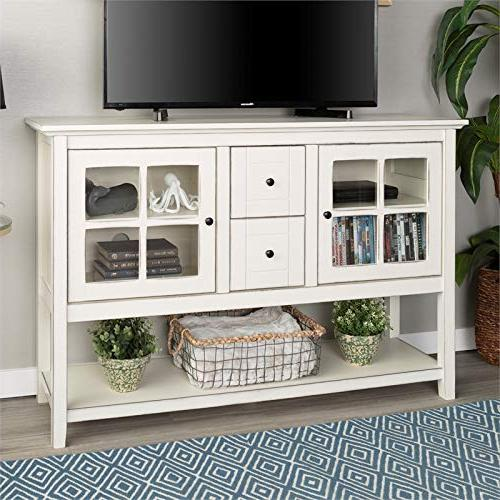 WE Console Table Buffet Stand - Antique White -