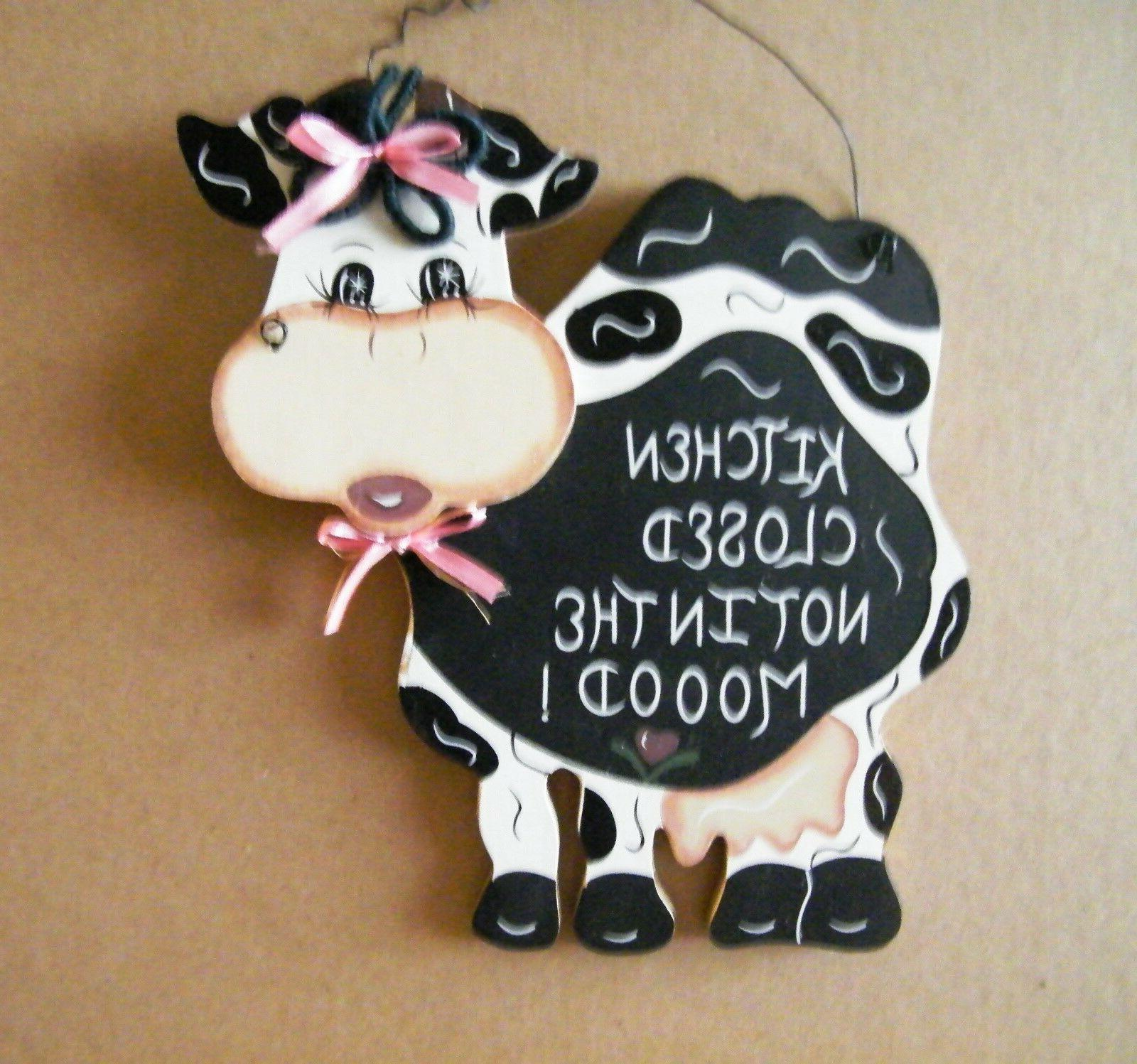 Wood Cow country 5.5 x humor sign