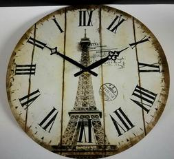Large Rustic Wooden Wall Clocks Retro Living Room Home Clock