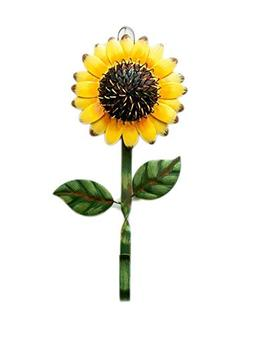 Metal Sunflower Design Wall Hook Rustic Vintage Metal Wall H