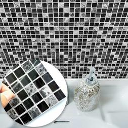 Mosaic Wall Tile Stickers Home Decor Self Adhesive Decal Bat