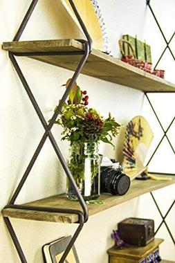 AVIGNON HOME Rustic Floating Wood Shelves 3-Tier Wall Mount