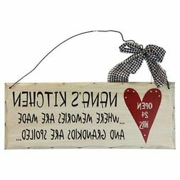 Nana's Kitchen Open 24 hrs Wood Decorative Plaque Gifts for