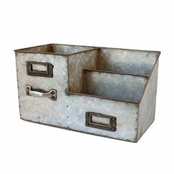 NEW Industrial Stainless Steel Desk Organizer 3 Bin Storage