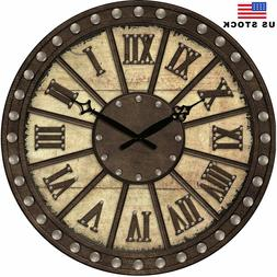 New Large Wall Clocks Antique Retro Home Room Decor Ancient