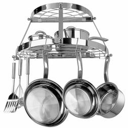 new stainless steel wall mount pot rack