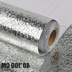 Oil-proof Wall Stickers Aluminum Foil Self Adhesive Waterpro
