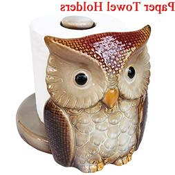 RJWKAZ Owl Paper Towel Holders And Napkin Holders Ceramic fo