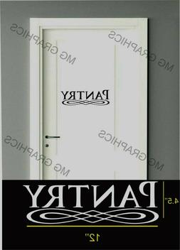 PANTRY VINYL WALL / GLASS DECAL KITCHEN DECOR LETTERING STIC