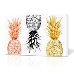 Pineapple Wall Art Framed Canvas Painting Fruits Prints Home