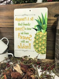 Pineapple Sign- Kitchen Decor - Home Decor - Metal Fruit Sig