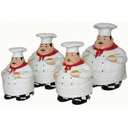 Plump Chef Kitchen Canister 4-Piece Set Deluxe Handcrafted C
