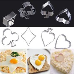 Poker Cookie Cutters Stainless Steel Kitchen Biscuit Mould S