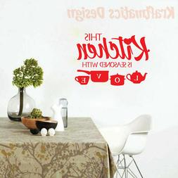 Quote Wall Decal – Kitchen - Vinyl Sticker Nursery for Hom