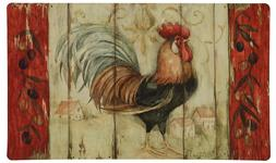 Kitchen Rug Red Rooster Country Farm Decor Decorative Accent