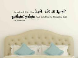 Religious Inspirational Wall Decals Trust In The Lord Art De