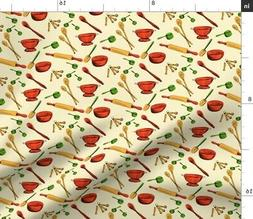 retro kitchen utensils decor gadgets gadget fabric