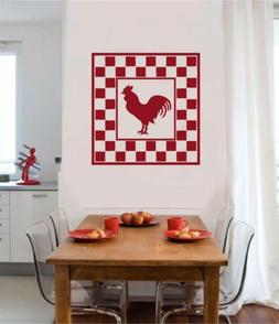 Rooster Chicken Vinyl Decal Wall Sticker Primitive Country K