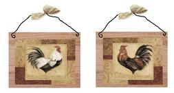 Rooster Pictures Brown Kitchen Wall Hangings Home Decor Plaq