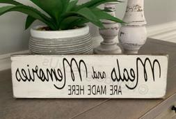 Rustic Kitchen Wood Sign MEALS AND MEMORIES ARE MADE HERE Fa