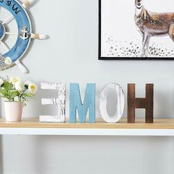 Rustic Wood Home Decorative Sign Standing Cutout Word Decor