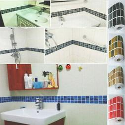 DIY Self Adhesive Mosaic Wall Stickers Tile Kitchen Bathroom