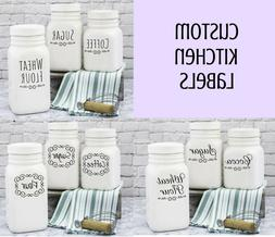 Set Custom Kitchen Pantry Food Container Spice Label Organiz