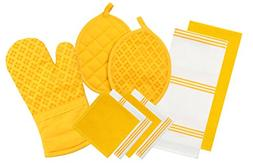 Sticky Toffee Silicone Printed Oven Mitt & Pot Holder, Cotto