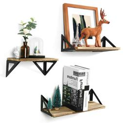 Solid Floating Shelves Wall Mount Rustic Wood Wall Shelves S