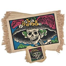 SpiritFest Sugar Skull Placemats & Coasters: Set of 8 Day of