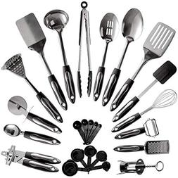 25-Piece Stainless Steel Kitchen Utensil Set | Non-Stick Coo