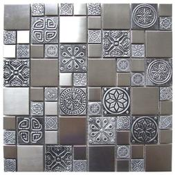 stainless steel metal mosaic tile for kitchen