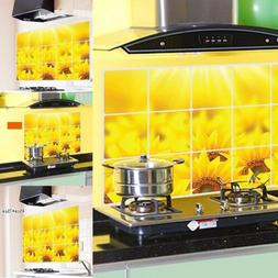 Sunflower Kitchen Removable Wall Sticker Window Home Decor D