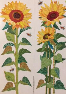 sunflowers leaves stalk wall stickers 6 decals