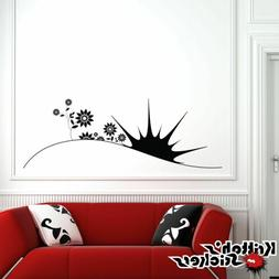 Sunrise and Flowers Vinyl Wall Decal nursery kid room home d